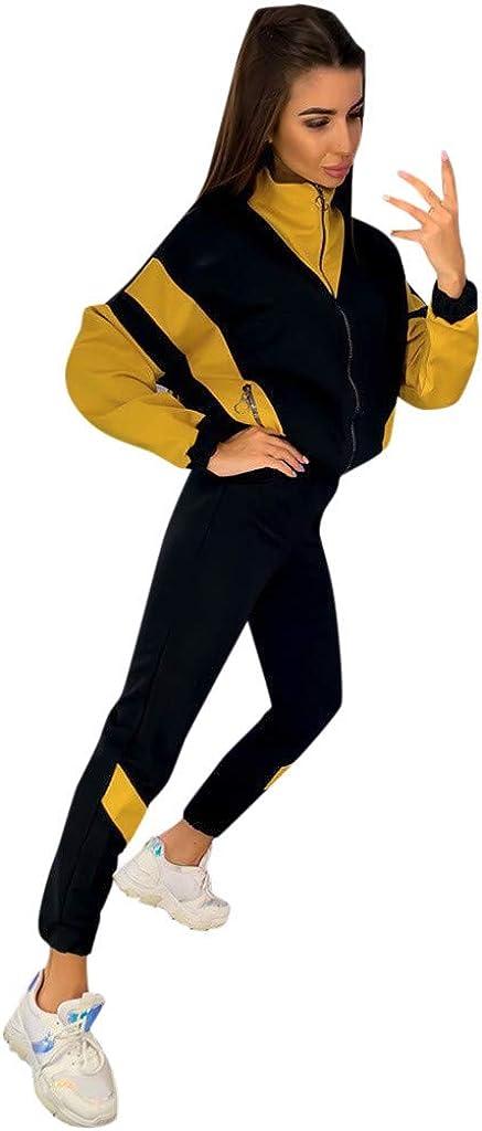 WUAI-Women 2 Piece Outfits Zip Up Hoodie Sweatshirt /& Sweatpants Sweatsuits Jogging Running Tracksuits