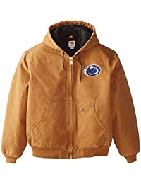 NCAA Penn State Nittany Lions Men's Quilted Flannel Lined Sandstone Active Jacket