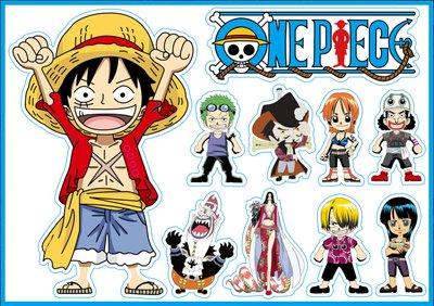 One Piece Pirate Stickers Large Sanji Flag Straw Hat 10Pcs Children Adult Teens Teacher Children Adult Teens Teacher Toddlers Water Bottles Laptop Car (Small Onepiece 10 x 7.32 in)