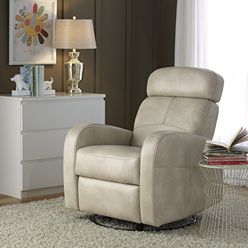 Full Glider Leather Swivel Recliner (Pulaski Laurel Swivel Glider and Recliner, Cream Rehide)