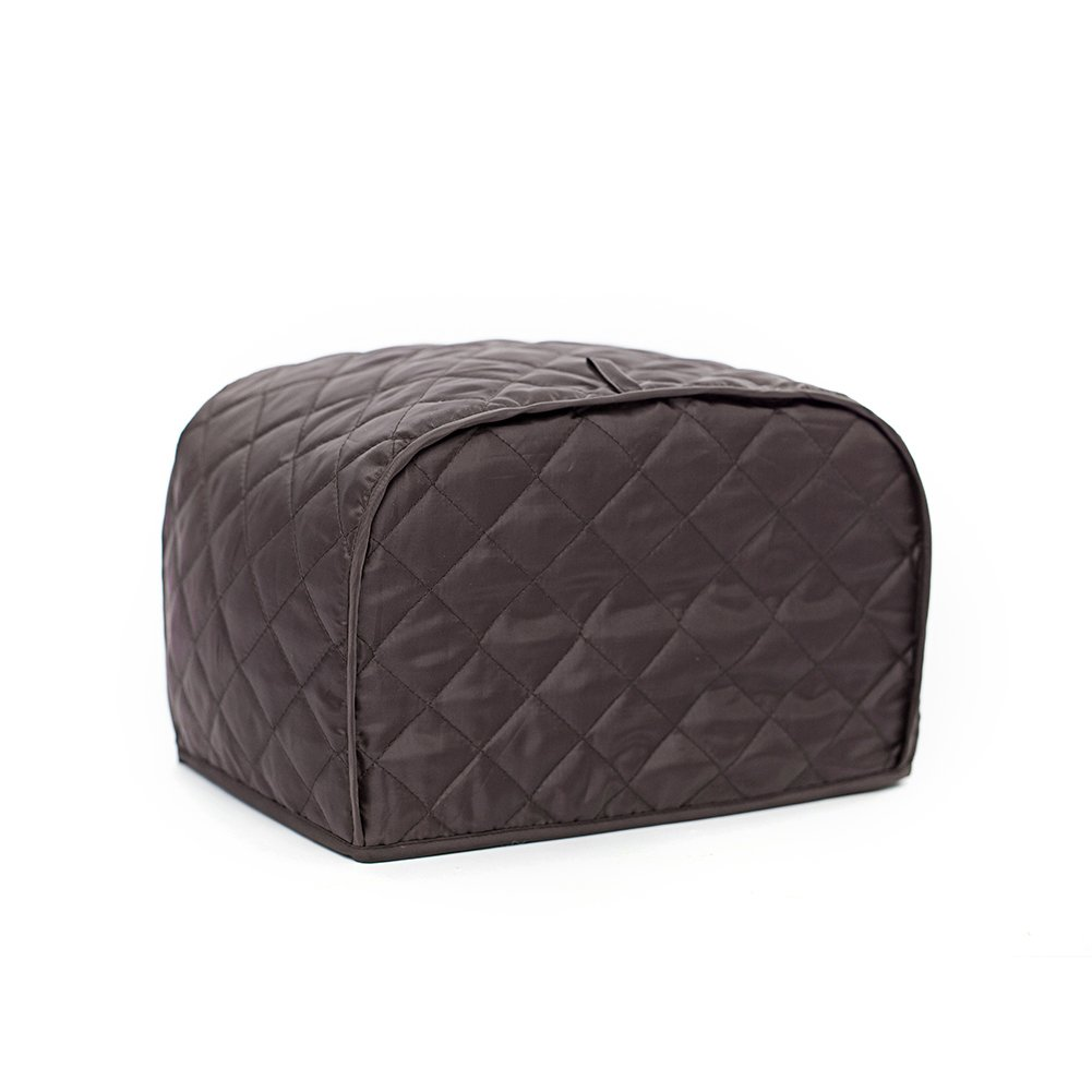 Unee1 Toaster Cover, Polyester Toaster Cover for Four Slice Toaster and Dust & Fingerprint Protection (L/12x11x8.5 inch/Coffee)