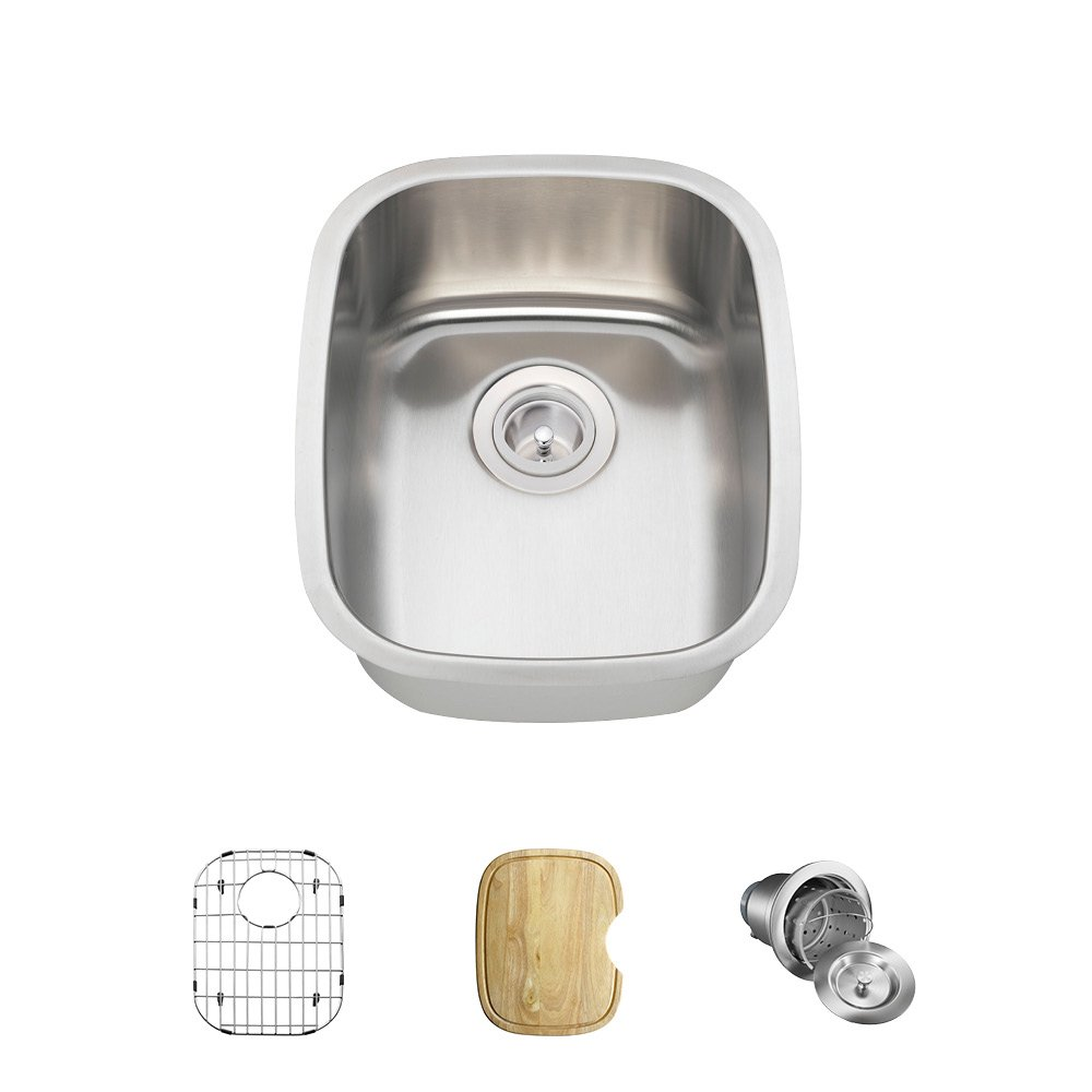 MR Direct 1815-16 Stainless Steel Bar Sink