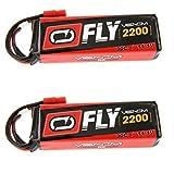 Venom Fly 30C 3S 2200mAh 11.1V LiPo Battery with Flyzone Super Tigre Plug x2 Pack Combo