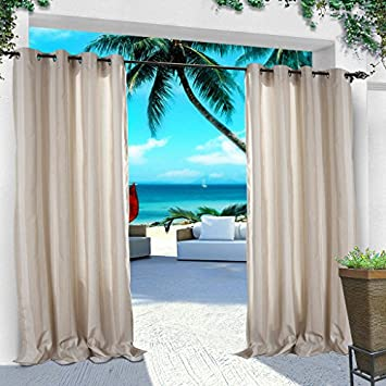 COFTY Indoor/Outdoor Curtains And Drapes Eco Friendly For Patio| Porch|  Gazebo