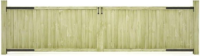 ghuanton Puertas de Valla de jardín 2 uds Madera de Pino FSC 400x100 cmBricolaje Vallas de jardín Puertas de jardín: Amazon.es: Hogar