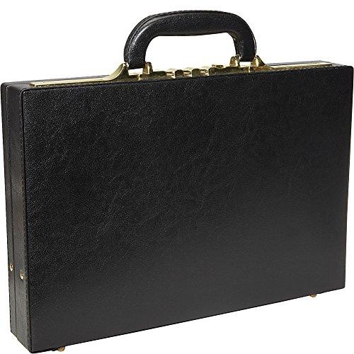 AmeriLeather Slim Executive Faux Leather Attache Case (Black) - Executive Attache