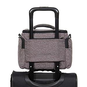 Hynes Eagle Compact Camera Shoulder Bag Shockproof Water Resistant Messenger Bag for SLR/DSLR, Grey