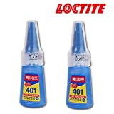2-Pack Henkel Loctite 401 Multi Purpose Liquid Cyanocrylate Instant Adhesive Super Glue 20g Bottle (2-Pack)