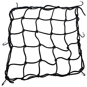 Amazon Com 2 Pack Of Black 15x15 Cargo Net Featuring 6 Adjustable