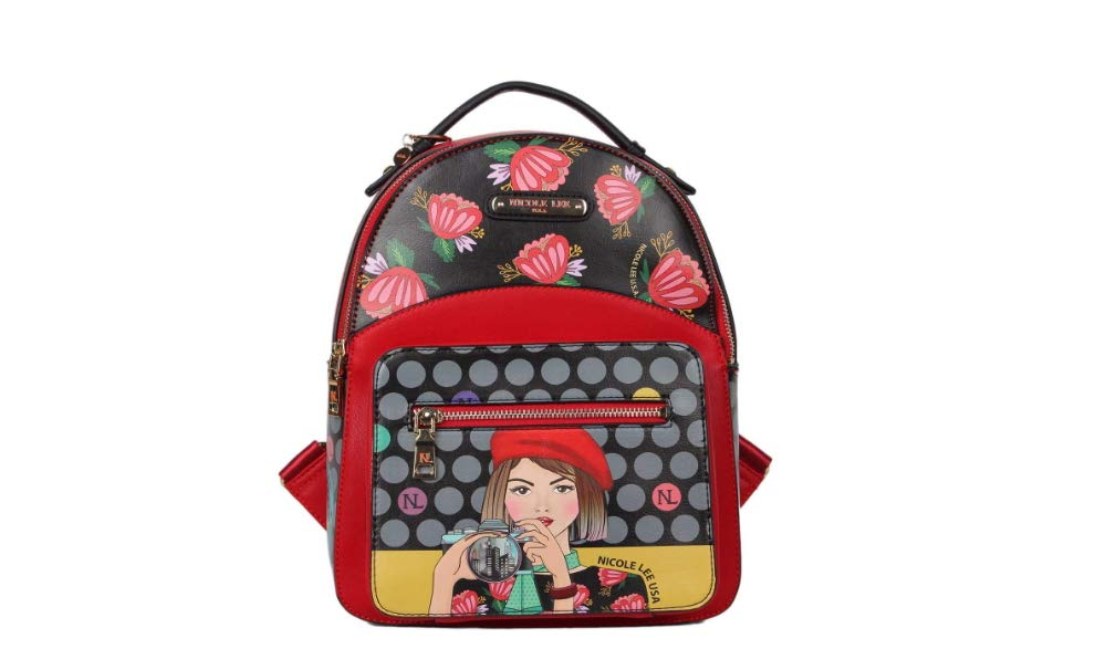 Nicole Lee Women's Stylish [Gray] Small Lunch Insulated Compartment Backpack Clara Loves Photo One Size [並行輸入品]   B07K19BNCQ