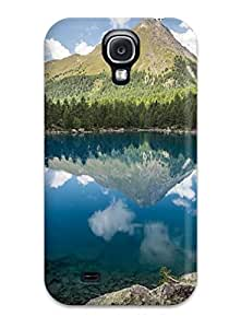New Premium JessicaBMcrae Blue Lake View Landscape Skin Case Cover Excellent Fitted For Galaxy S4