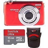 Polaroid iEX29 18MP 10x Digital Camera (Red) 16GB Bundle