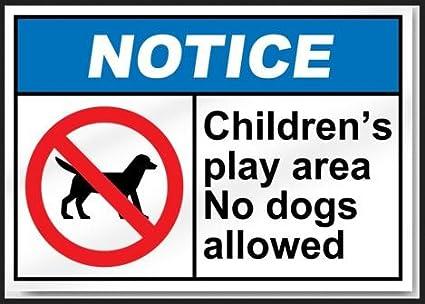 Amazon.com: Aviso zona de juegos de los niños sin perros ...
