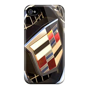 Excellent Hard Cell-phone Case For Iphone 4/4s With Customized Nice Cadillac Logo Pattern IanJoeyPatricia