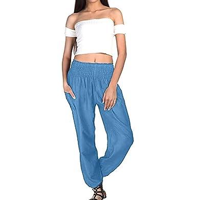 Pantalones De Mujer Cinturón De Corbata Casual Pantalón Ancho ...