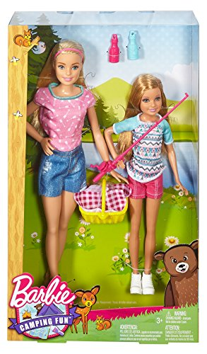 2016 Barbie Camping Fun Barbie and Stacie (Barbie Gift Basket)