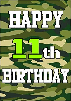 Happy 11th Birthday Birthday Books For Boys Birthday