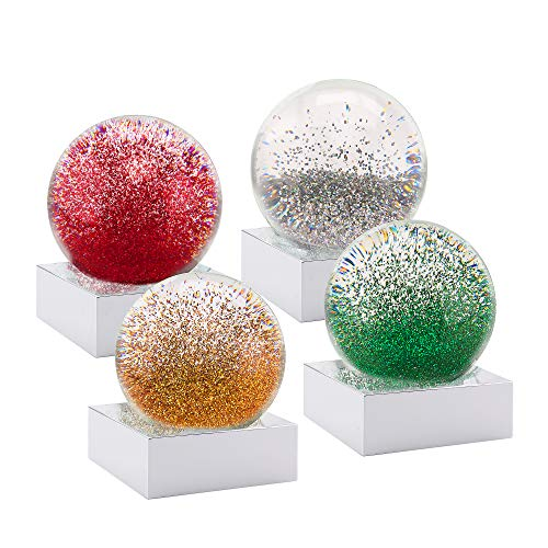 CoolSnowGlobes Mini Christmas Jewels Set of Four (Globes Mini Sale For)
