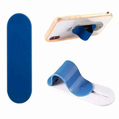 Finger Strap for Phone, AOLIY Cell Phone Grip Holder for iPhone Android Smartphones Mini Tablets Mobile Devices (Blue)