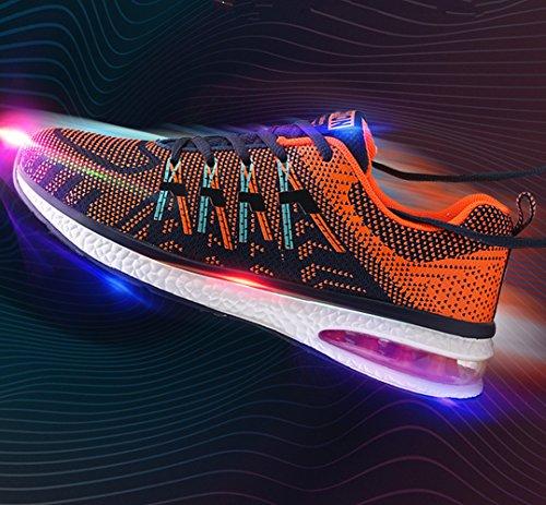 Sportivo Athletic da Unisex Mescola 36 Arancia Allacciare Corsa Air 45 Leggero Nero colore Rosa Basse Sneakers arancione Scarpe Ginnastica Running Blu dppE8w