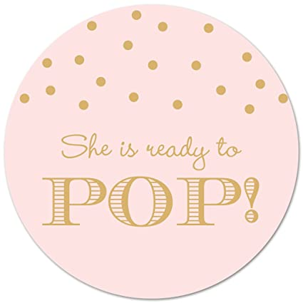 40 Ready To Pop Stickers Gold On Pink