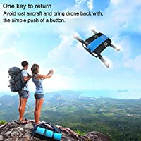 Fineser Mini Foldable RC Drone with HD Wi-Fi Camera 2.4GHz 6-Axis Gyro Quadcopter With Altitude Hold,Headless Mode ,One Key Take Off / Landing , Foldable Arms