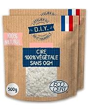 L'Atelier du Do It Yourself 2 x 500 g koolzaadwas zonder gentechniek, zonder pesticiden voor de productie van de kaars.