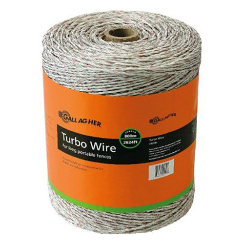 Gallagher Fence Electric (Gallagher G62089 Turbo Wire Fence, 2625-Feet, White)