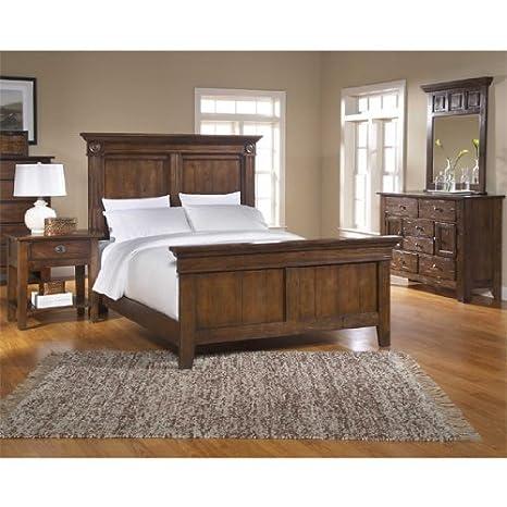 Amazon.com - Attic Heirlooms Rustic Oak Panel Bedroom Set ...