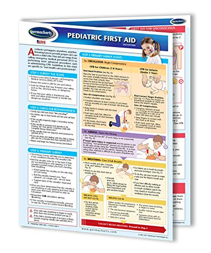 Pediatric First Aid Guide - Medical Quick Reference Guide by Permacharts
