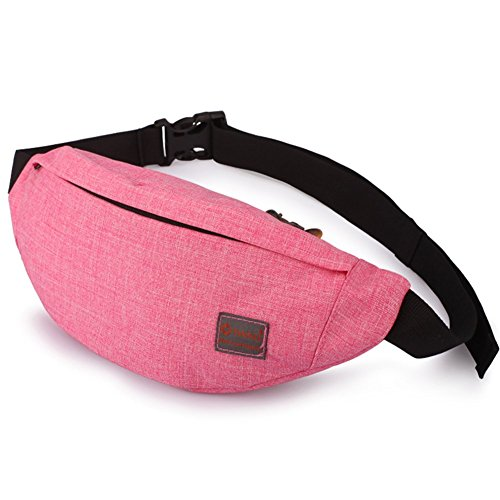 Tinyat Travel Fanny Bag Waist Pack Sling Pocket Super Lightweight For Travel Cashier's box, Tool Kit T201, Pink