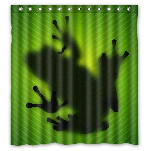 Custom Waterproof Fabric Bathroom Shower Curtain Frog 66(w) x 72(h) Cing AX-AY-ABHI-63955