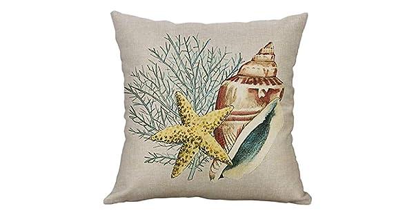 Amazon.com: Meanit - Fundas de almohada de playa de algodón ...