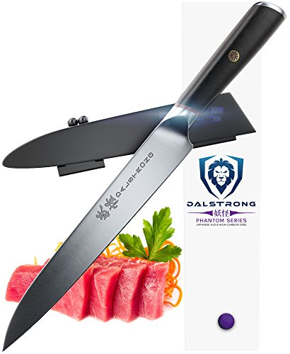 "DALSTRONG Yanagiba Sushi Knife - Phantom Series - Japanese AUS 8 Steel - 9"" - Sashimi Knife - Sheath"
