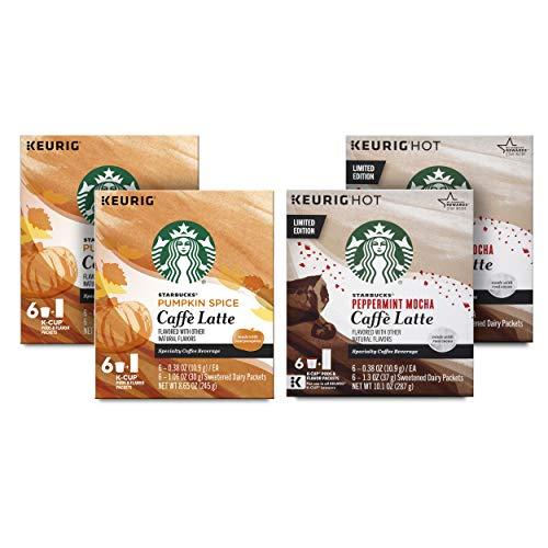 Starbucks Latte Kit—12 Pumpkin Spice Caffe Lattes and 12 Peppermint Mocha Caffe Lattes (24 K-Cups total)