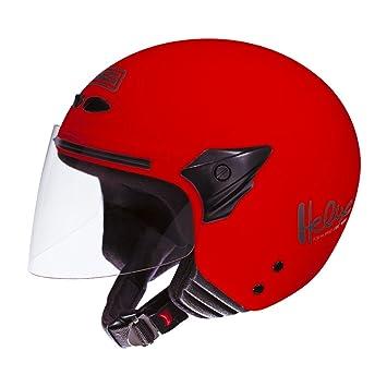 NZI 050137G058 Helix II Junior Casco de Moto, Talla L, Rojo