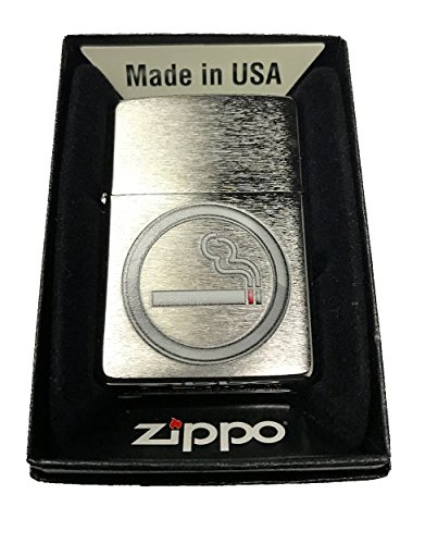Zippo-Custom-Lighter-Smoking-OK-Icon-Brushed-Chrome