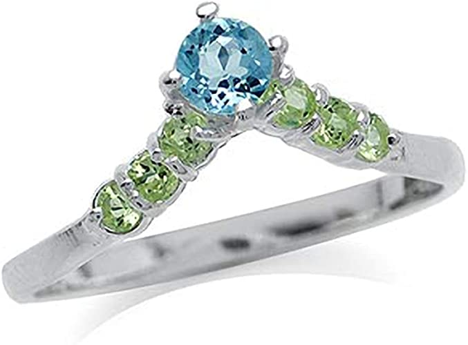 GENUINE PERIDOT RING set in .925 STERLING SILVER  FAST FREE SHIPPING !!!