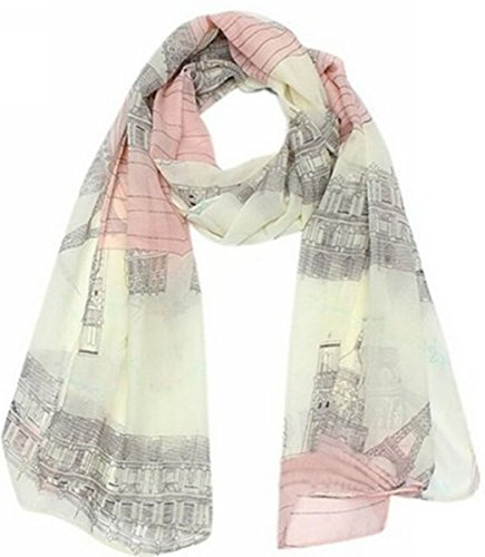UGET Womens Eiffel Printed Scarves product image