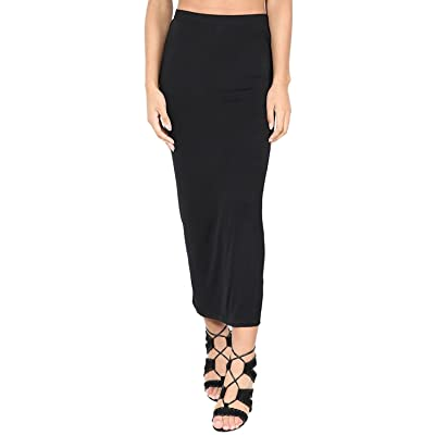 Oops Outlet Womens Midi Skirt Bodycon Bandage Plain Stretch Wiggle Pencil Tube: Clothing