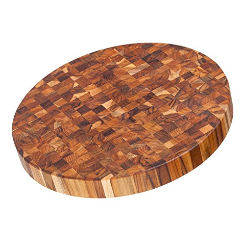 Proteak Chopping Block (Teak Cutting Board - Circular End Grain Cheese Board And Butcher Block (18 x 2 in.) - By)