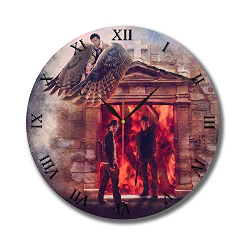 mV The Supernatural 11.8 Handmade Wall Clock – Get Unique d cor Home Office Best Gift Ideas Kids, Friends, Parents Your Soul Mates
