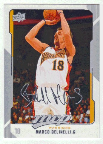 Marco Belinelli (Basketball Card) 2008-09 Upper Deck MVP # 52 - Silver Script