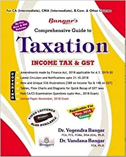 Buy Taxation (Income Tax and GST) Old and New Syllabus