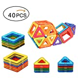 Camkey Magnetic Blocks Toys Building Tiles Stack Set Educational Stacking Toys - 40 pcs