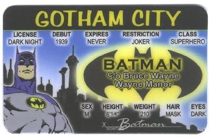 Amazon.com: Batman Fun Fake ID Licencia: Toys & Games