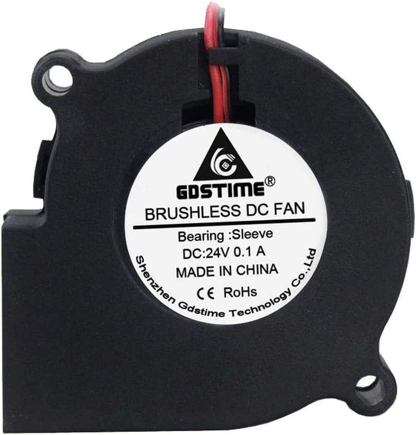 Gdstime DC Cooling 2Pin 60x60x28mm 6cm 60mm Small PC Centrifugal 24V Blower Fan