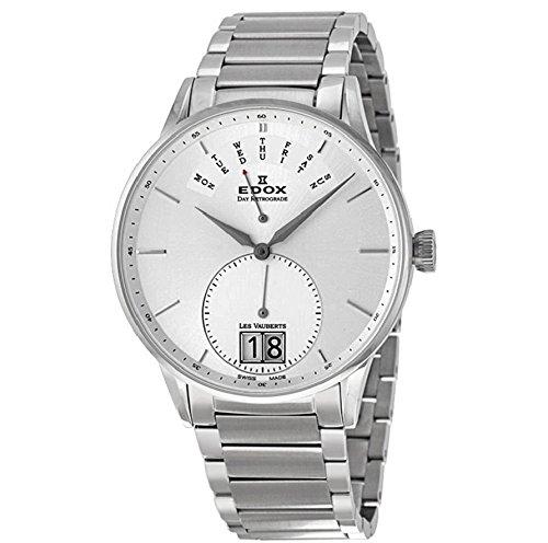 Edox Les Vauberts Day Retrograde Men's Quartz Watch 34006-3A-AIN