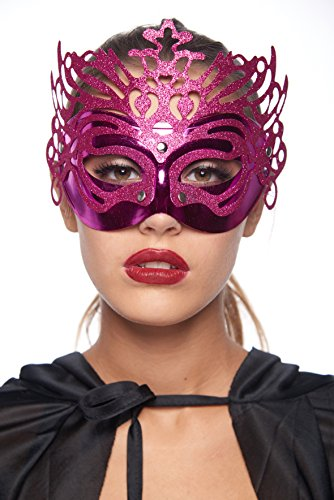 Whimsical Carnival Masquerade (Unisex; One Size Fits Most; Fuchsia)