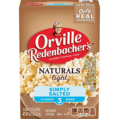 (Orville Redenbacher's Naturals Light Simply Salted Popcorn, Classic Bag, 3-Count)